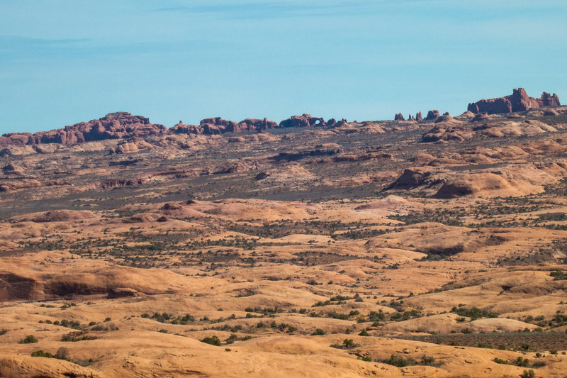 A peek into Arches National Park...you can still see an arch or two.