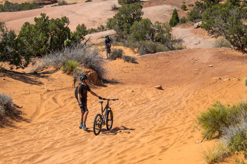 It's called Slickrock, but there's still some sections of sand!