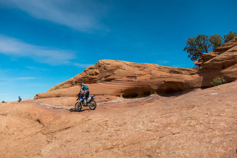 You might encounter motor bikes as well on Slickrock.