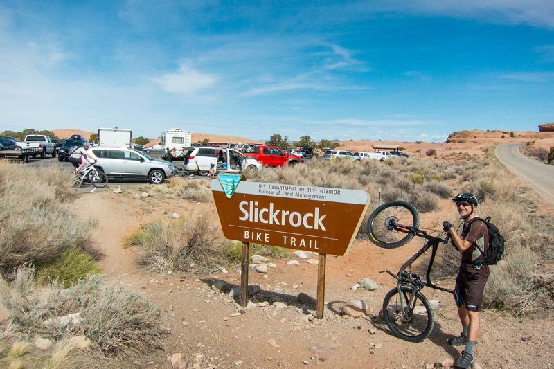 The one and only. With some technical sections, lots of bike handling skills tests and amazing views, Slickrock is always a fun ride!