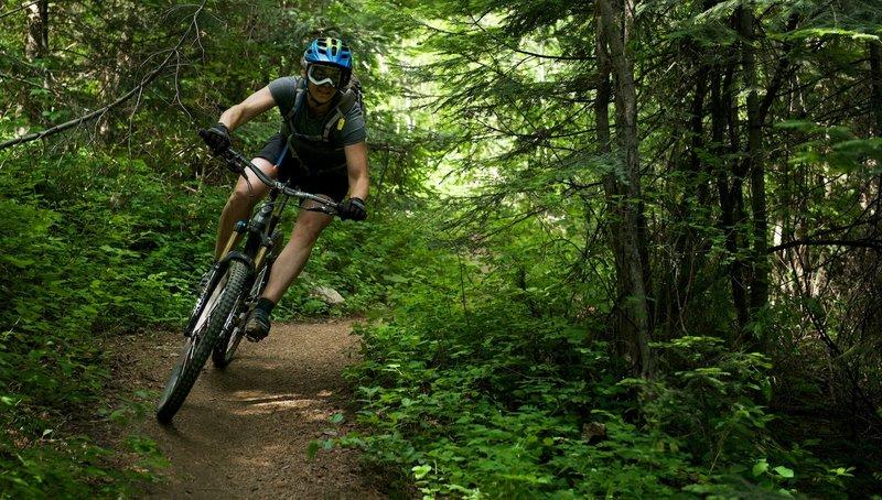Early season ride at Mt. Spokane.
