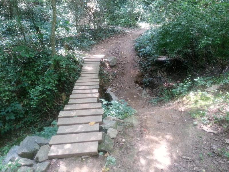 An optional bridge TTF over a gully after the BYT jump line.