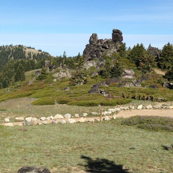 """The """"Rabbit Ears"""" on the west side of Mt Ashland"""