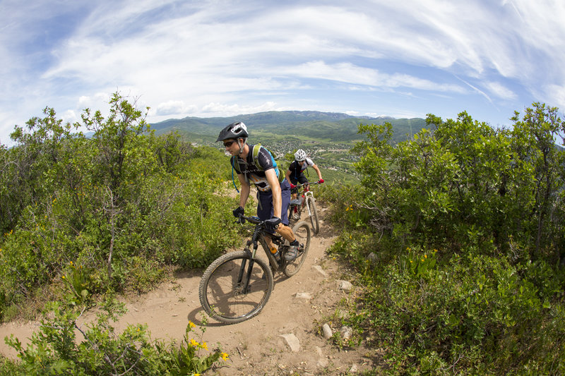 Lupine has great views of the Yampa Valley from top to bottom.