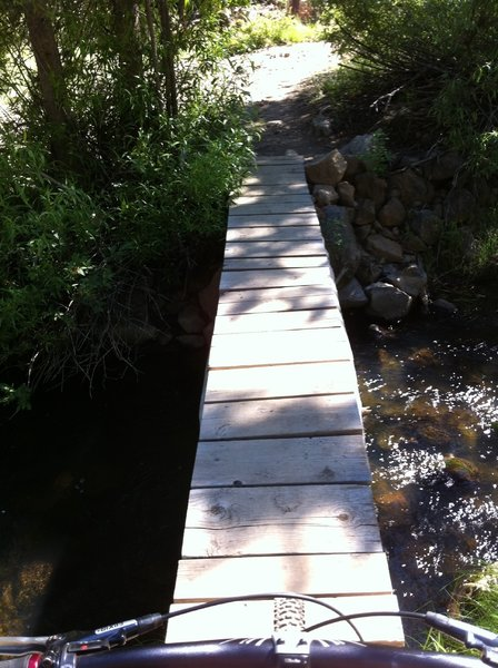 One of several bridge crossings along the Alder Creek section of the Emigrant Trail
