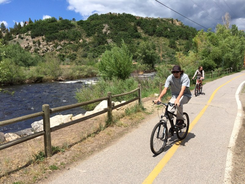 Typical section of the Yampa River Core Trail