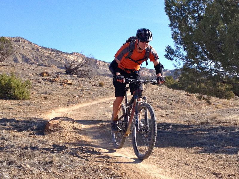 A mini-kicker and smooth, twisty, downhill singletrack - can't go wrong with that!