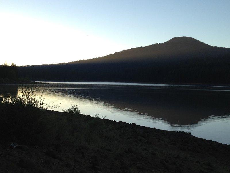 Fish Lake and Brown Mountain
