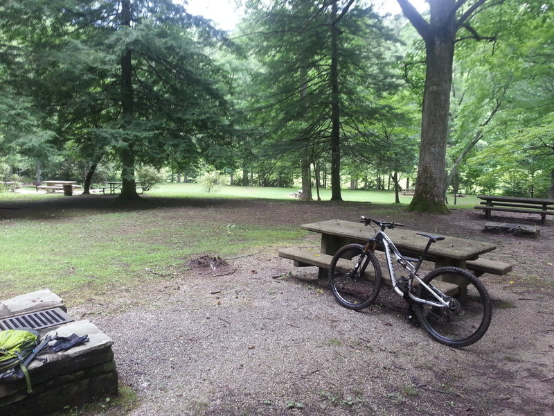 The bottom of Kitsuma at the picnic grounds before Old US 70