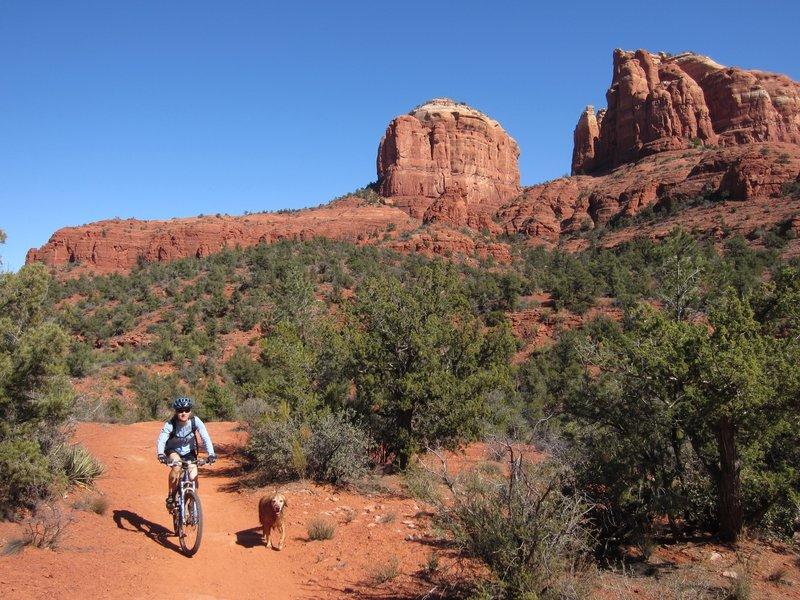 Susan & Lily riding The Baldwin Trail