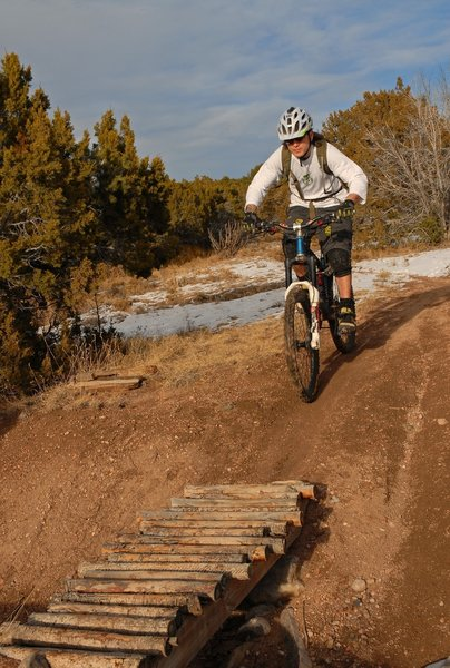 Look for the occasional bridge & freeride features around the La Tierra Trail system-