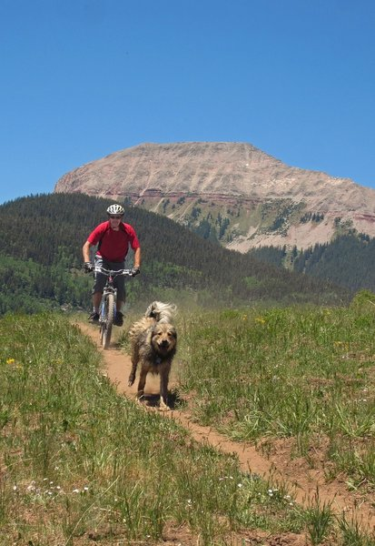 Rich & Roxy on the Engineer Moutain Trail, Durango