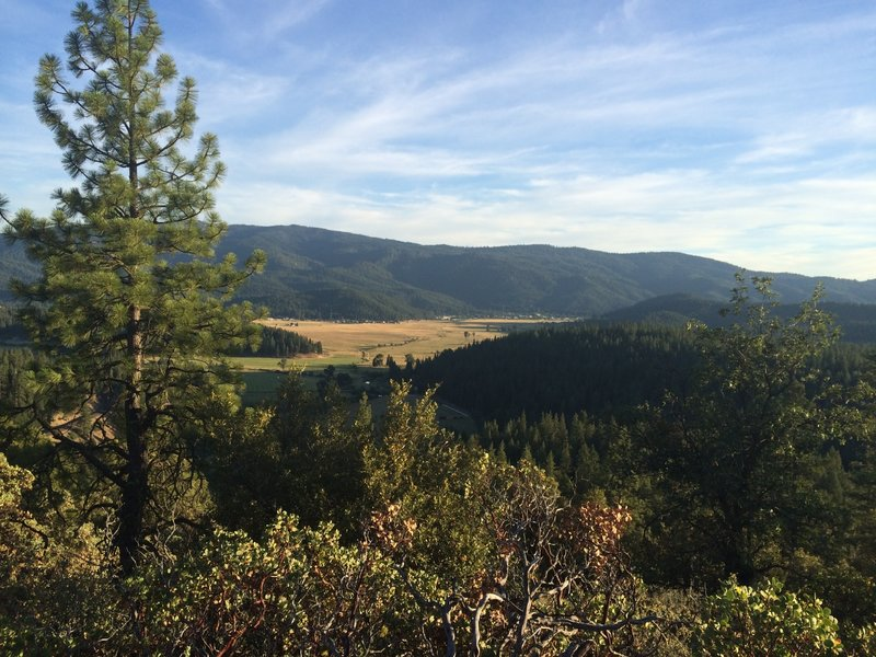 Looking south into the American Valley, views like these will surprise you at many turns!