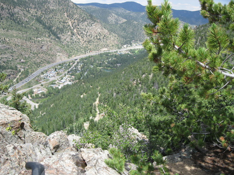 Looking North from trail down to Jeep trail that you access and exit to road on.