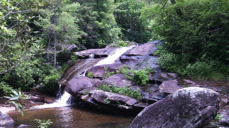 Wintergreen Falls. Access to this view of falls is by dense covered hiking trail only.
