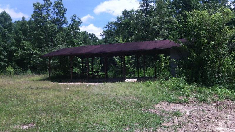 Abandoned shelter at old firing range.