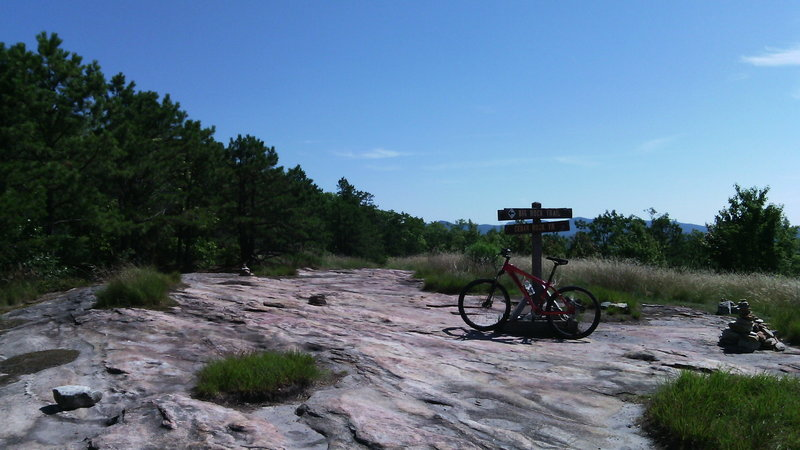 Intersection of Big Rock and Cedar Rock trails.