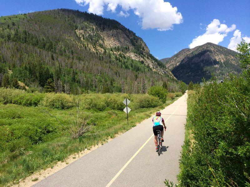 Cruising along the Frisco Bike Path