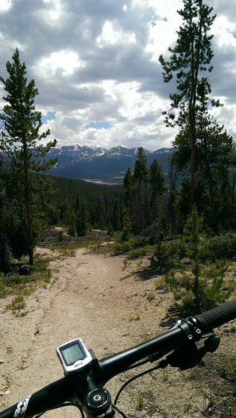 Views of the Tenmile Range and Breckenridge on the descent
