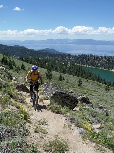 Fantastic views above Martlette Lake.
