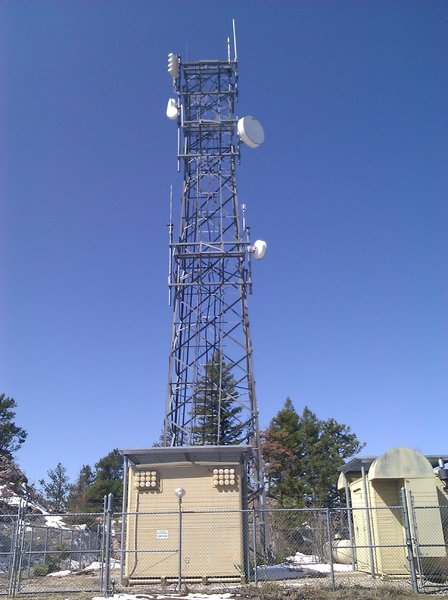 South radio towers at the top of Horsetooth Mountain Park, Fort Collins, CO.