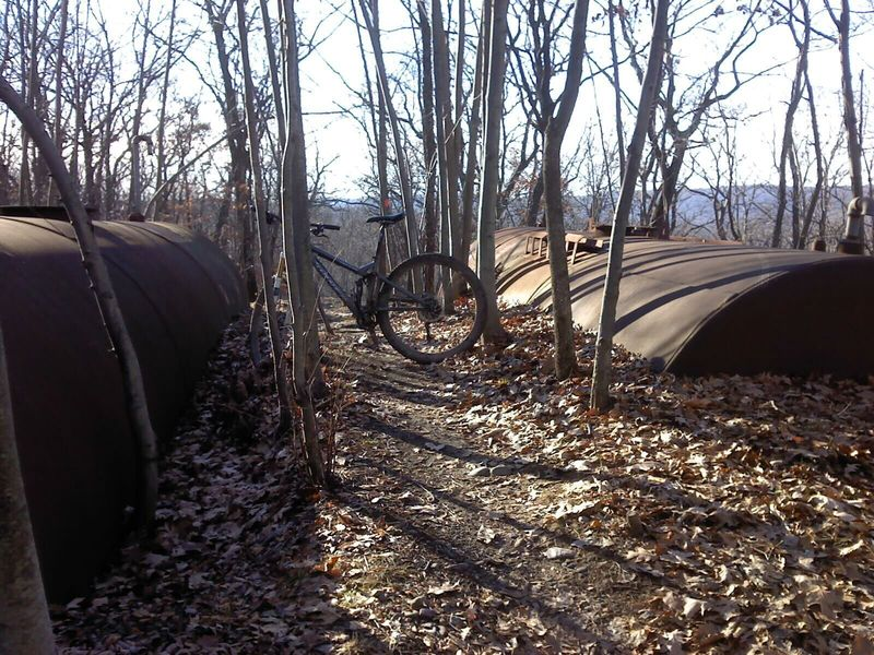 These are the tanks the trail is named after.