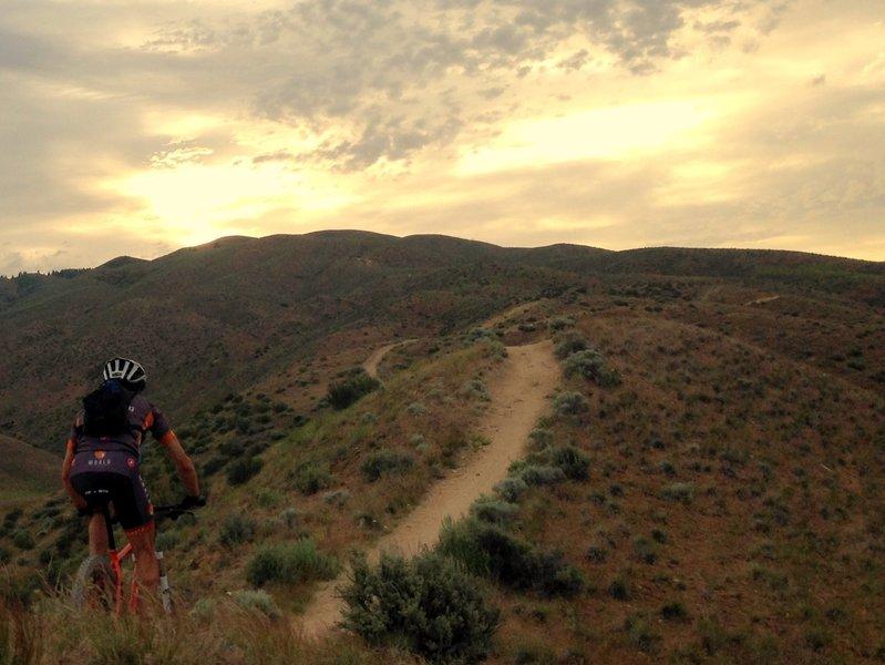 Morning Ride up Sidewinder