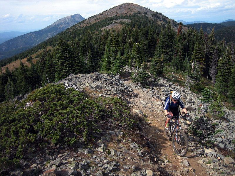 Climbing to Record Ridge on the Seven Summits trail.