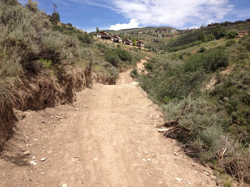 Wide machine built singletrack from end to end.