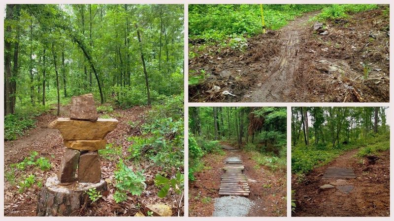 Recent trail improvements to 10Bridges