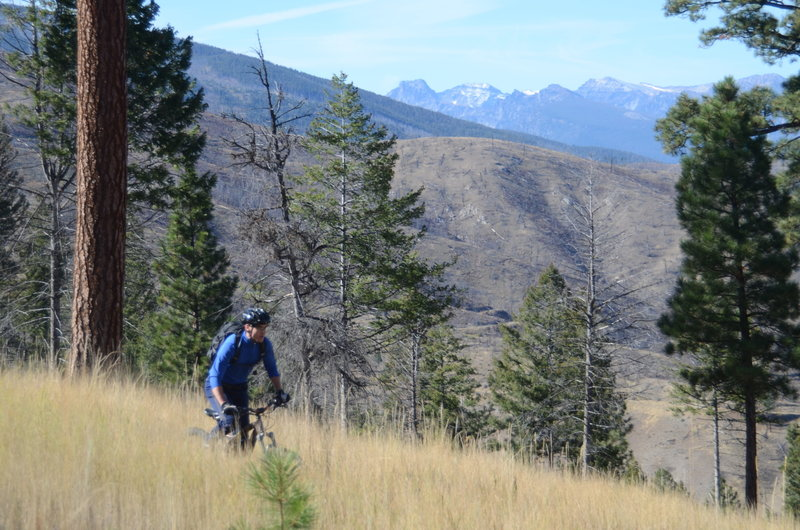 Heading down the last section of Warm Springs Ridge