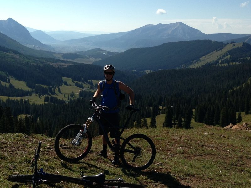 403 Trail looking back over Crested Butte, CO