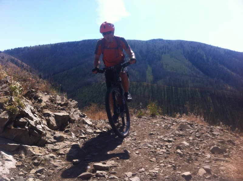 Climbing, but loving every minute of it on Warm Springs Trail!