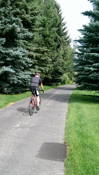 Cruising on the Wood River Trail system