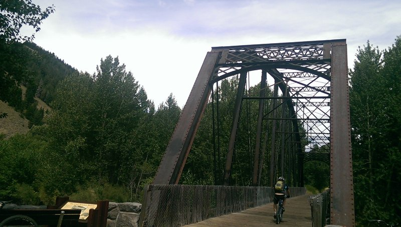 One of two steel bridges that the path crosses