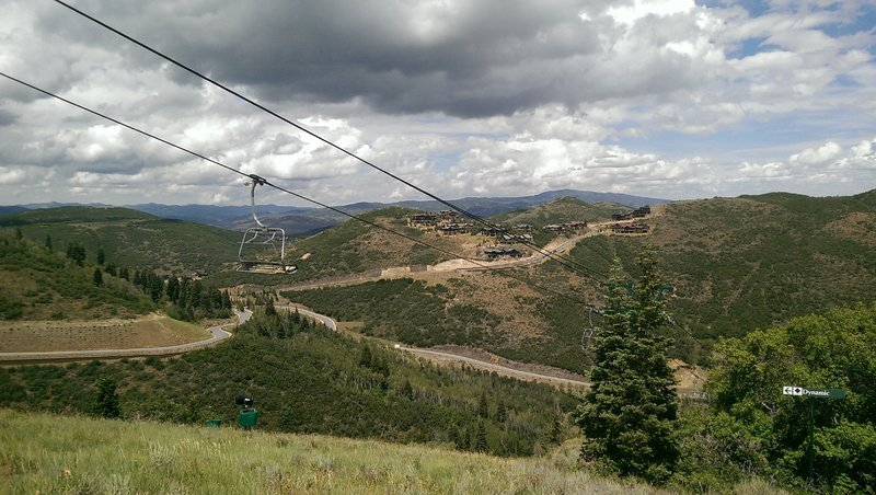 Mountaineer Express chairlift and new hillside development