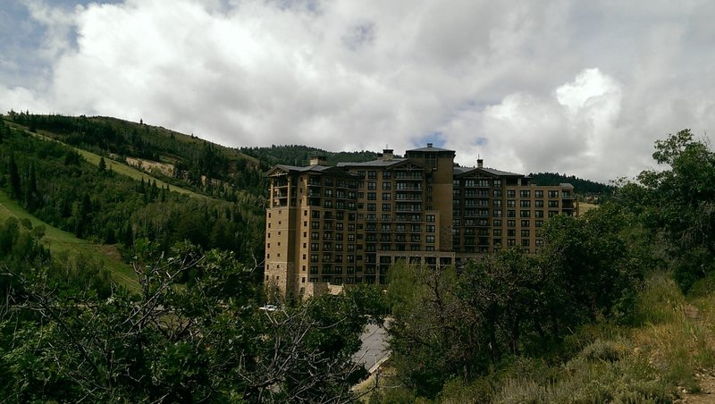 The St. Regis Hotel looms in this corner of the valley