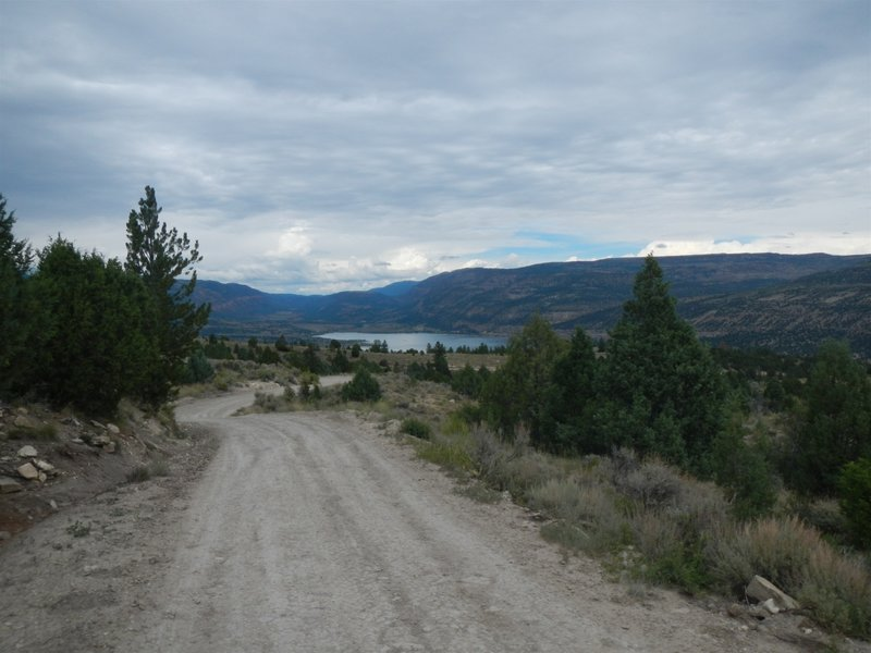 Looking north to Joe's Valley Reservoir from the rough jeep road leading from Mary's Lake.