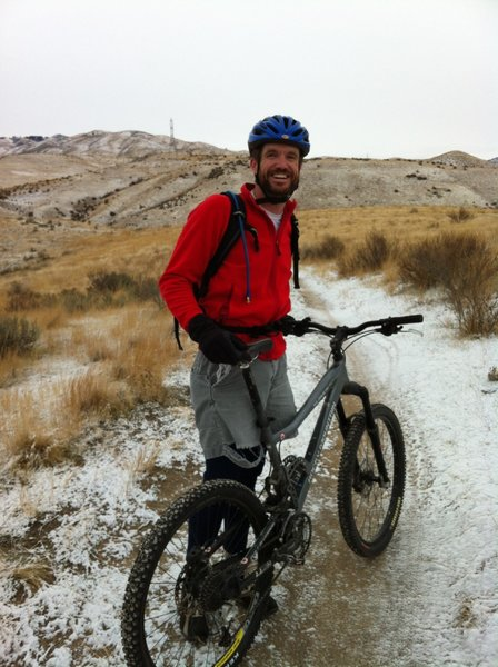 Winter riding in the Boise Foothills