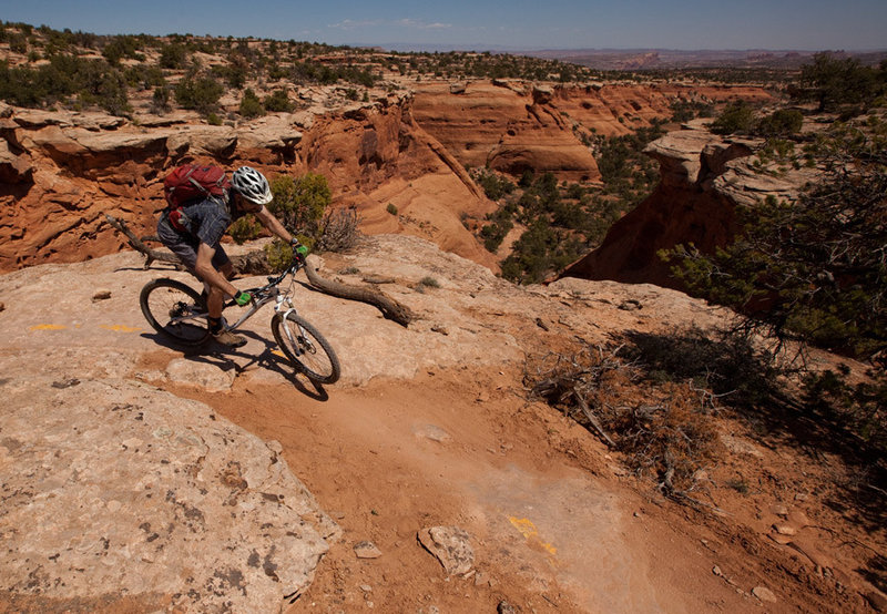 The first canyon views on Bull Run, part of the Magnificent 7 ride.