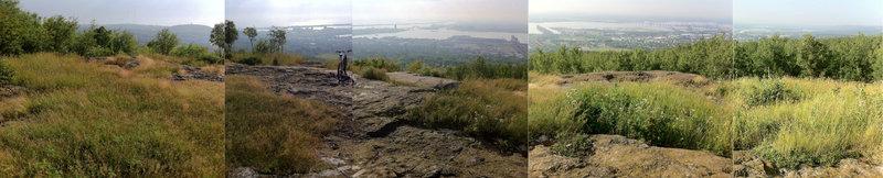 Fantastic, panoramic, scenic overlook: Lake Superior, Duluth, Superior, Wisconsin, harbor, St. Louis River.