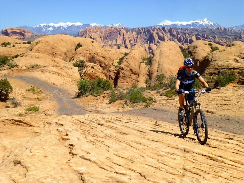 Incredible views are the reward after a long climb and lots of sand.