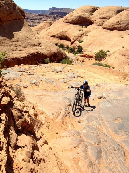 Quite a few short hike-a-bikes over ledges for most people in this section.