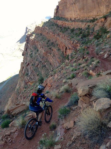 Hard to see how a trail fits on that ledge... or who thought it was a good idea to build it!