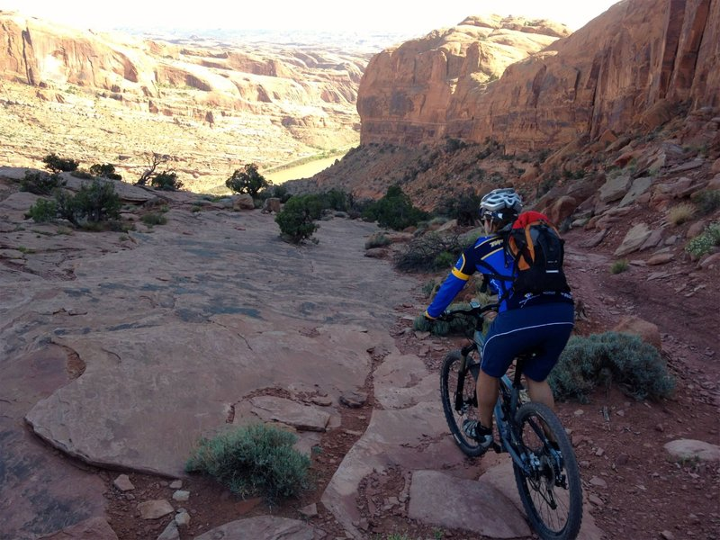 One of the more ridable sections