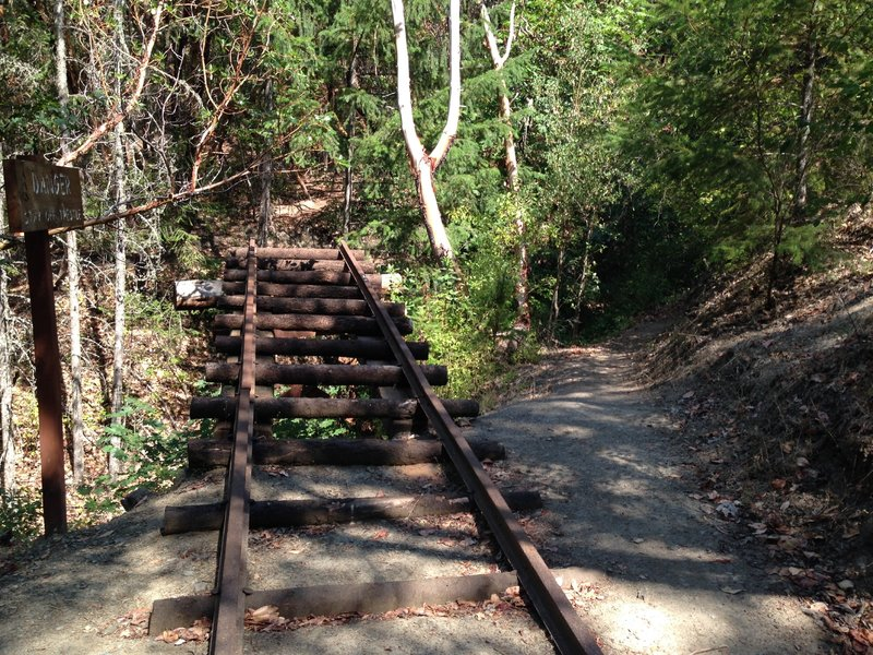 Scene of the fatal train wreck on Rail Trail
