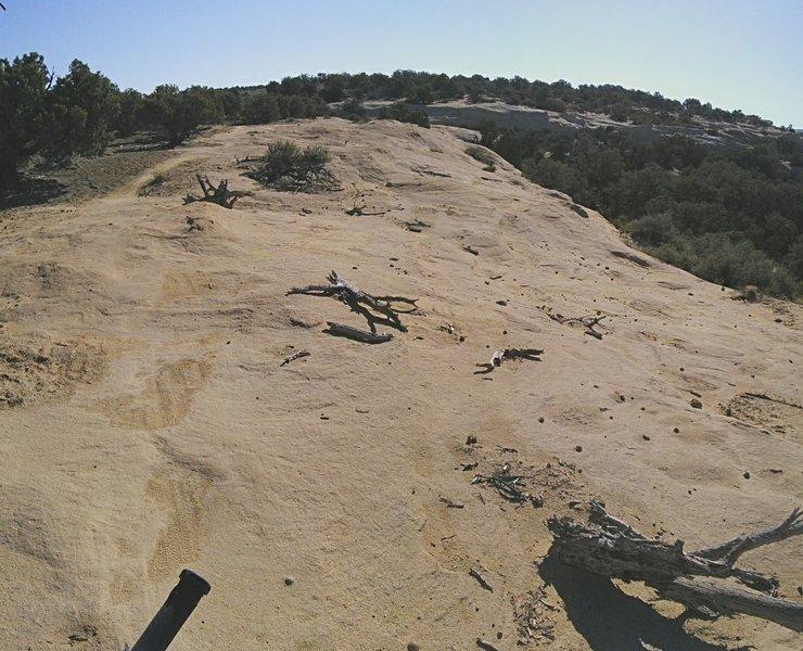 Slickrock along the canyon rim