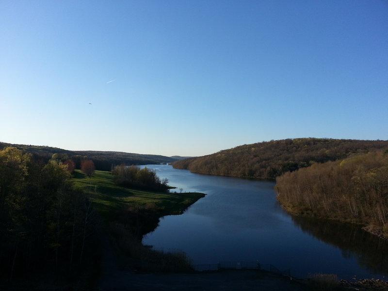 Prompton lake from the dam