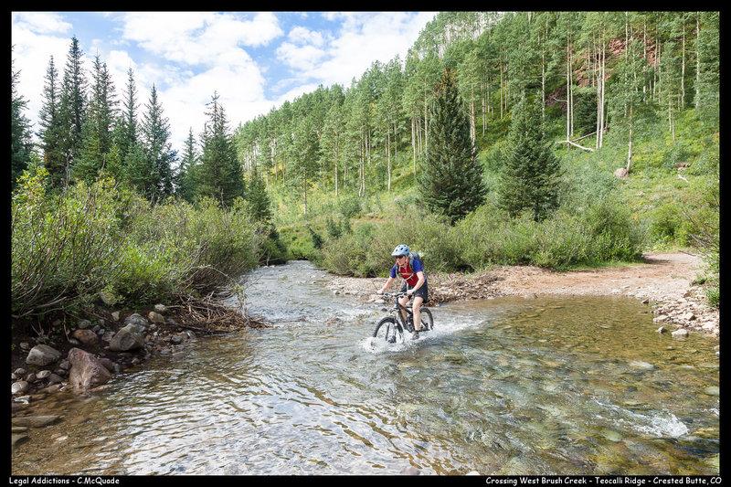 West Brush Creek Crossing (late August 2014)