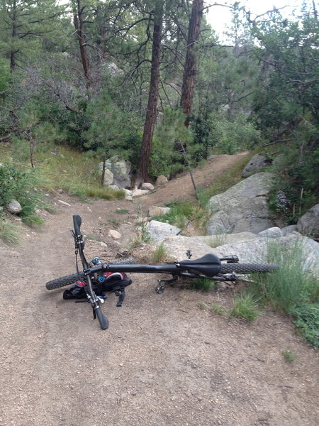 Blackmer is great section with a combination of technical riding through rocks and a couple long stretches of downhill towards the parking lot.  Some corners are slippery but nothing uncommon for this area of the CSprings